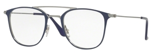 Ray Ban Glasses RX6377 Gunmetal / Shiny Blue