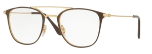 Ray Ban Glasses RX6377F Gold / Shiny Brown