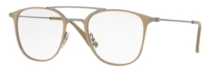 Ray Ban Glasses RX6377F Gunmetal / Shiny Beige
