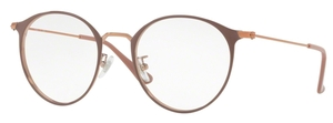 Ray Ban Glasses RX6378F Asian Fit Copper on Top Light Brown