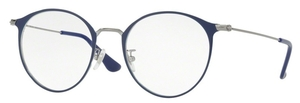 Ray Ban Glasses RX6378F Asian Fit Gunmetal/Shiny Blue