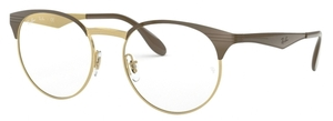 Ray Ban Glasses RX6406 Gold/Shiny Brown
