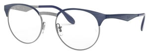 Ray Ban Glasses RX6406 Gunmetal Shiny Blue
