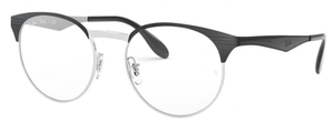 Ray Ban Glasses RX6406 Silver on Top Black
