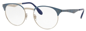 Ray Ban Glasses RX6406 Silver on Top Blue Move