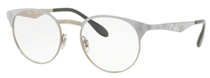 Ray Ban Glasses RX6406 Silver on Top White Move