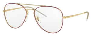 Ray Ban Glasses RX6413 Gold Top Bordeaux