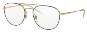 Ray Ban Glasses RX6414 Gold Top Blue
