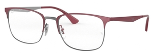 Ray Ban Glasses RX6421 Gunmetal on Top Matte Bordeaux
