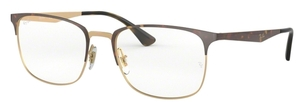 Ray Ban Glasses RX6421 Pink Gold on Top Havana