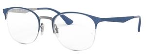 Ray Ban Glasses RX6422 Gunmetal on Top Matte Blue