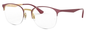 Ray Ban Glasses RX6422 Pink Gold on Top Matte Bordeaux
