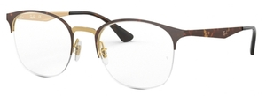 Ray Ban Glasses RX6422 Pink Gold Top on Havana