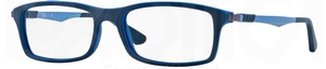 Ray Ban Glasses RX7017 Top Grey on Blue