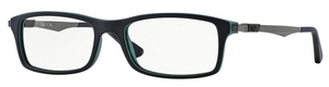 Ray Ban Glasses RX7017 Top Black on Green