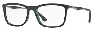Ray Ban Glasses RX7029 Black Top On Green