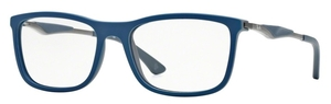 Ray Ban Glasses RX7029 Top Blue On Matte Dark Grey