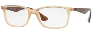 Ray Ban Glasses RX7047 TRANSPARENT BEIGE