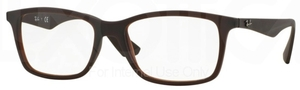 Ray Ban Glasses RX7047 Matte Transparent Brown