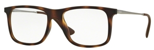 Ray Ban Glasses RX7054F Asian Fit Rubber Havana