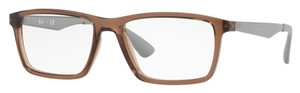 Ray Ban Glasses RX7056 Transparent Brown