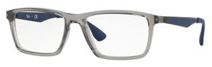 Ray Ban Glasses RX7056 Transparent Grey