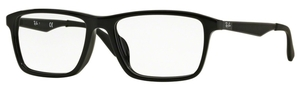 Ray Ban Glasses RX7056F Asian Fit Shiny Black