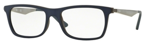 Ray Ban Glasses RX7062 Top Blue On Matte Brown