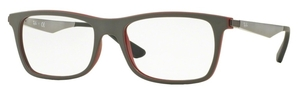 Ray Ban Glasses RX7062 Top Grey On Matte Bordeaux