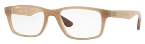 Ray Ban Glasses RX7063 Transparent Beige