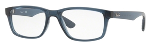 Ray Ban Glasses RX7063 Transparent Grey Blue