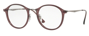 Ray Ban Glasses RX7073 Opal Bordeaux