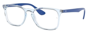 Ray Ban Glasses RX7074 Crystal Transparent Blue