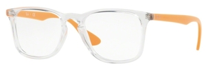 Ray Ban Glasses RX7074 Crystal with Orange Temples