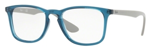 Ray Ban Glasses RX7074 Transparent Blue
