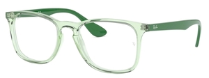 Ray Ban Glasses RX7074 Transparent Green