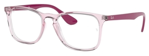 Ray Ban Glasses RX7074 Transparent Pink