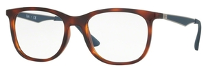 Ray Ban Glasses RX7078 Shiny Light Havana