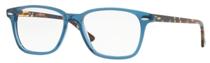 Ray Ban Glasses RX7119 Shiny Transparent Blue