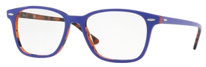 Ray Ban Glasses RX7119 Top Violet on Havana Orange