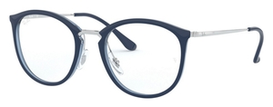 Ray Ban Glasses RX7140 Top Blue on Transparent Blue