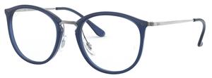 Ray Ban Glasses RX7140 Transparent Blue