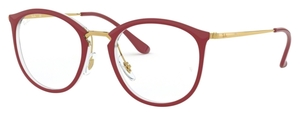 Ray Ban Glasses RX7140 Transparent on Top Amaranth