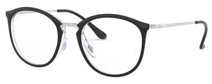 Ray Ban Glasses RX7140 Transparent on Top Black