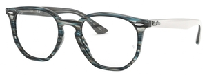 Ray Ban Glasses RX7151 Blue/Grey Striped