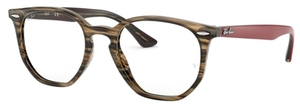 Ray Ban Glasses RX7151 Brown/Grey Striped