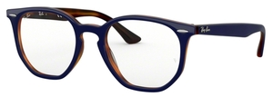 Ray Ban Glasses RX7151 Top Blue on Havana Red