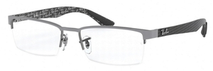 Ray Ban Glasses RX8412 Gunmetal Top on Grey