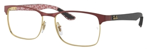 Ray Ban Glasses RX8416 Gold on Top Matte Bordeaux