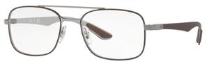 Ray Ban Glasses RX8417 Gunmetal on Matte Brown